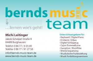 Michi Leitinger - Visitenkarte (Bernd's Music Team, Burghausen)